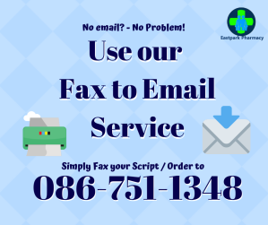 Eastpark Pharmacy Fax to email 086 751 1348